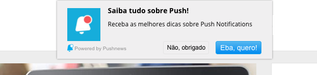 notificações push pushnews ecommerce