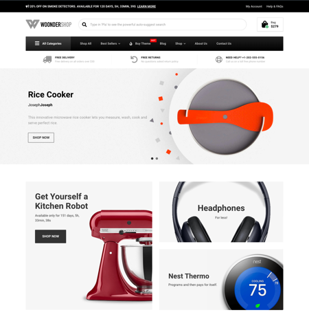 WoonderShop WooCommerce theme WordPress