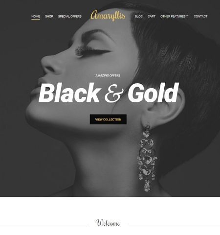 amaryllis template ecommerce wordpress