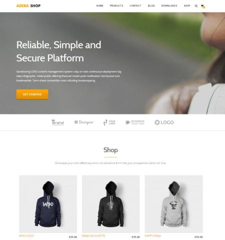 azera-shop theme woocommerce