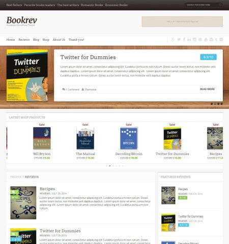 bookrev wordpress store theme