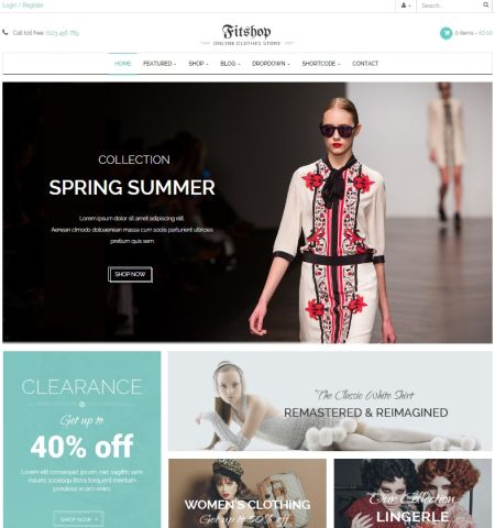 fitshop tema wordpress ecommerce