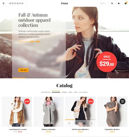 frost1 ecommerce templates