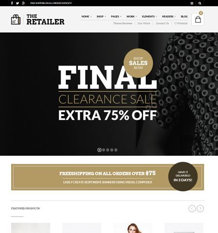 the-retailer template loja virtual wordpress